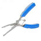 Fishing Cable Cutting Bent Nose Pliers - Blue + Silver