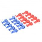 DIY Car Quick Wire Connection Clip Button - Blue + Red (20 PCS)