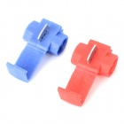 DIY Car Quick Wire Connection Clip Button - Blue + Red (20PCS)
