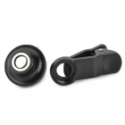 LIEQI Handy 185 Degree Fisheye Wide Angle Lens w/ Clip for Cellphone / Tablet PC - Black