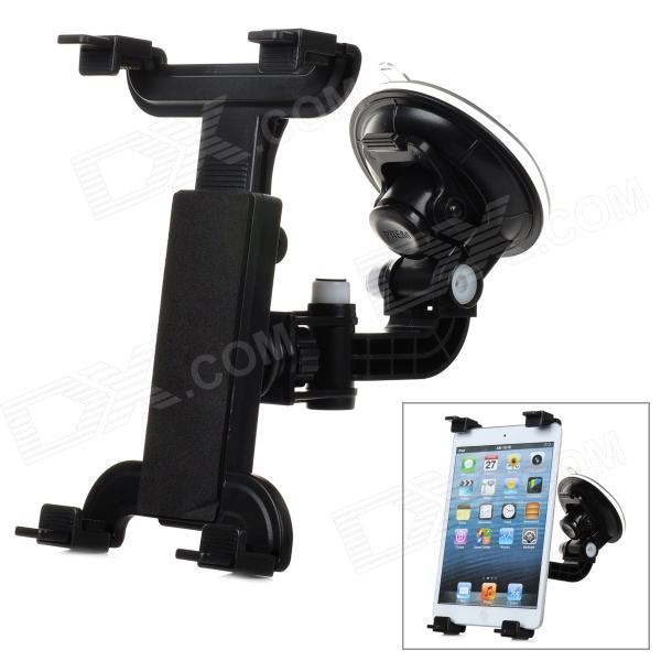 WH-09 360 Degree Rotational Car Mount Holder w/ Suction Cup for Tablet PC - Black