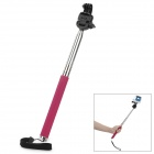Aluminum Alloy Monopod w/ Tripod Mount Adapter for Gopro Hero 4/ 2 / 3 / 3+ - Deep Pink + Silver