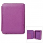 Protective Lichee Pattern PU Leather Flip Open Case for Kobo Mini - Purple