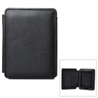 Protective Lichee Pattern PU Leather Flip Open Case for Kobo Mini - Black
