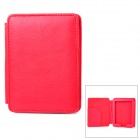Protective Lichee Pattern PU Leather Flip Open Case for Kobo Mini - Red
