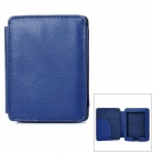 Protective Lichee Pattern PU Leather Flip Open Case for Kobo Mini - Purple Blue