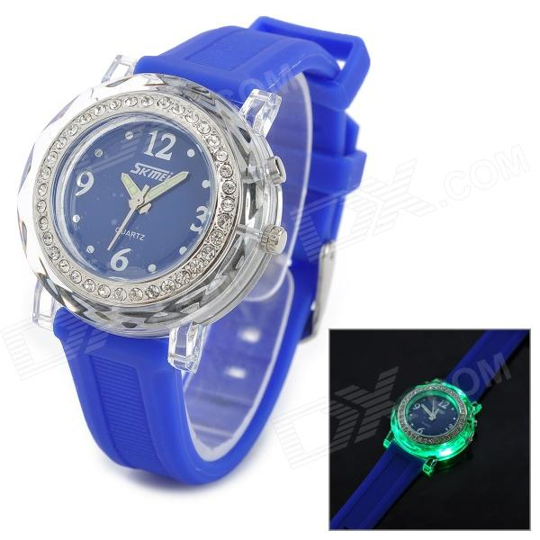 SKMEI 0995C Fashionable Woman's Quartz Analogue Wrist Watch - Blue (1 x CR2025 / 1 x SR626) цена 2017
