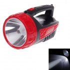 KMS KM-2619 3W 350lm 6000K LED White Light Rechargeable Portable Lamp - Black + Red (AC 110~240V)
