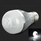 Edens AL1035 E27 5W 350lm 6500K White 5-LED IR Induction Light Bulb - Silver