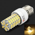 LeXing LX-YMD-007 E27 4W 350lm 3500K 144-SMD 3528 LED Warm White Light Bulb - White + Yellow