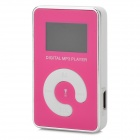 "KD-MP3-11-DAIPING-HONGSE 0.9"" LCD MP3 Player w/ TF / Mini USB - White + Silver + Deep Pink"