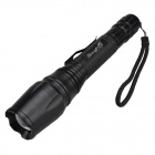 SingFire SF-720 Cree XM-L T6 800lm 5-Mode White Zooming Flashlight - Black (2 x 18650)