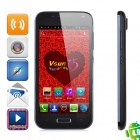 "VSUN i5 Dual-Core Android 4.0 WCDMA Bar Phone w/ 4.5"" QHD, Wi-Fi, GPS and HDMI - Black"