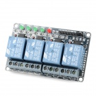 4-Channel 9V Opto-isolator Relay Module w/ High Level Trigger - Blue