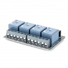 4 canales de 9V Opto-aislador Relay Módulo w / High Level Trigger - Blue