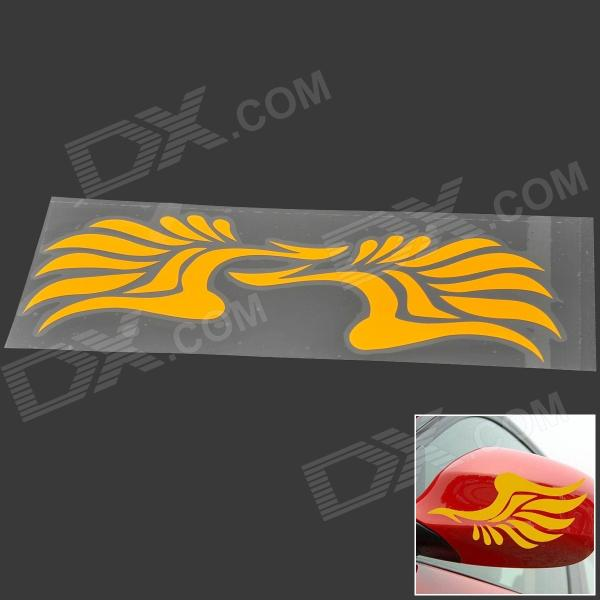 DIY Car Rearview Mirror Decoration Reflective Sticker - Yellow (Pair)
