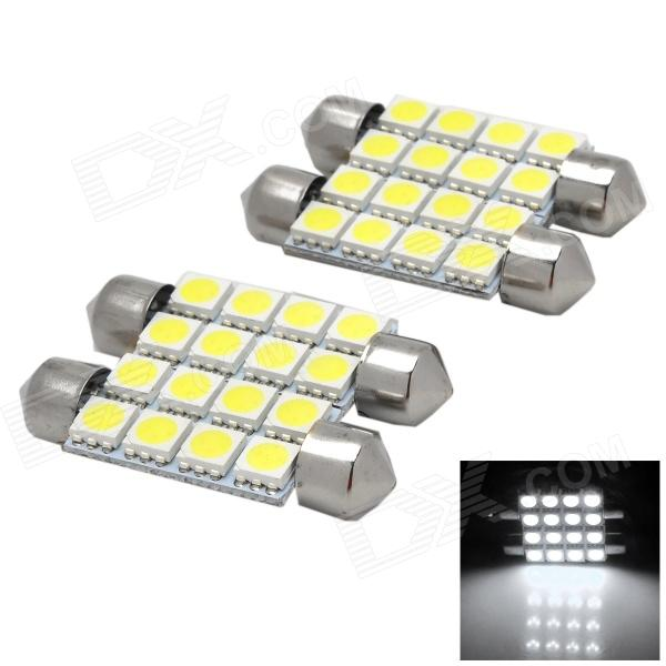 Festoon 42 milímetros 2.4W 8 x 5050 SMD LED Lamp Light Reading White (4 PCS)
