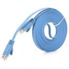 Ultra-delgado CAT-6 macho a macho RJ45 SRPVC cable LAN Ethernet - azul (300cm)