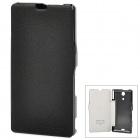 NILLKIN Super Fiber Cover w/ Plastic Back Case for Sony M36h / Xperia ZR - Black