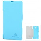Nillkin Protective PU Leather + PC Back Case for Sony M36h(Xperia ZR) - Blue
