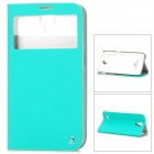 HOCO HS-L050 Flip-Open PU + PC Stand Case for Samsung Galaxy Mega 6.3 - Cyan