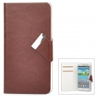 Jilis-m Universal Protective PU Leather Flip-Open Case for Samsung i9300 / i9500 + More - Brown
