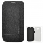KALAIDENG Stylish Flip-Open PU Case for Samsung Galaxy Mega 6.3 / i9200 - Black + White