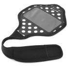 Белый Dot Sports Arm Band для Samsung Galaxy S4 Mini / i9100 - Черный