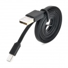 USB to Micro USB Data / Charging Flat Cable for Samsung Galaxy S3 / S4 - Black (1m)