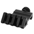 Aluminum Alloy Side Rail Mount for 20mm Gun - Black