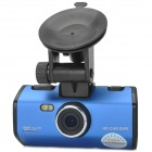 "HWZ K1000 1080P 2.5"" TFT 1.3 MP CMOS Car DVR Camcorder w/ 2-LED IR Night Vision - Blue + Black"