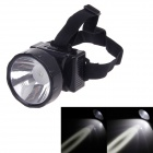 KangMing KM-190 High Power 1W 90lm LED 2-Mode Rechargeable White Light Headlamp - Black
