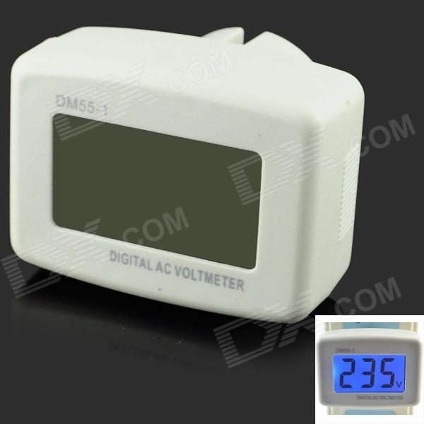 DM55-1 1.5  LCD Digital AC Power Voltage Monitor Meter - White (AC 80~300V / US Plug) power meter power consumption monitor us plug