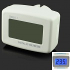 "DM55-1 1.5 "" LCD Digital AC Power Voltage Monitor Meter - White (AC 80~300V / US Plug)"
