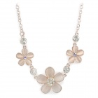 Five-petaled Flowers Style Opal Gold-Plating Necklace - Rose Gold