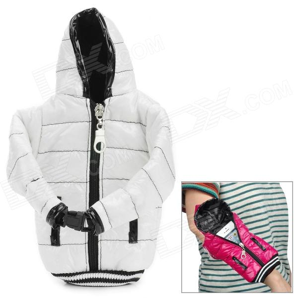 Universal Down Jacket Style Cellphone Wrist Bag w/ Strap - White - DXBags &amp; Pouches<br>Brand N/A Quantity 1 Piece Color White Material Down feather Compatible Models Universal Packing List 1 x Bag 1 x Strap (40cm)<br>
