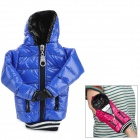 Universal Down Jacket Style Cellphone Wrist Bag w/ Strap - Deep Blue