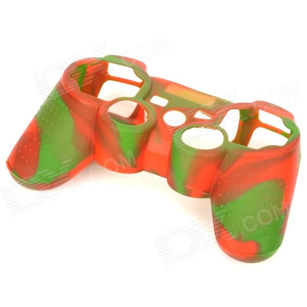 Stylish Colorful Silicone Case for PS3 Controller - Green + Red
