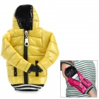 Universal Down Jacket Style Protective Cell Phone Carrying Case Pouch for Iphone 4 / 4S / 5 - Yellow