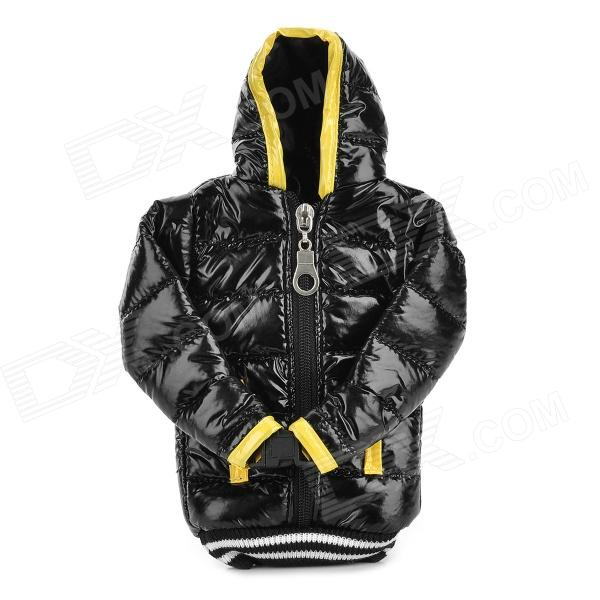 Universal Down Jacket Style Protective Cell Phone Carrying Case Pouch for Iphone 4 / 4S / 5 - Black