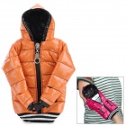 Universal Down Jacket Style Protective Cell Phone Carrying Case Pouch for Iphone 4 / 4S / 5 - Orange
