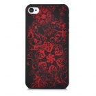 DURIAN Protective PC Plastic Case for Iphone 4 / 4S - Black + Red