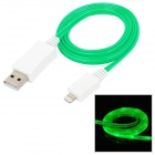 Lightning 8-Pin Male to USB Male Data Charging Cable for iPad Mini / iPhone 5 - Green