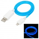 Lightning 8-Pin Male to USB Male Data Charging Cable w/ Visible Green Light for iPhone 5 / iPad Mini