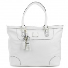 Lovematch 1302004101 Fashionable Simple PU Shoulder Tote Bag - White