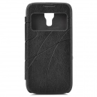 Protective PU Leather + PC Back Case for Samsung Galaxy S4 Mini - Black