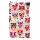 Lofter AST4001 Cute Owl Pattern Protective ABS Back Case for Ipod Touch 4 - Multicolored