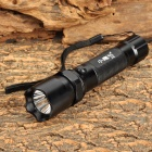 XiaoYingHao ZY-801 LED 100lm 3-Mode White Flashlight w/ Compass - Black (1 x 18650)