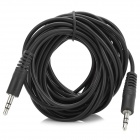 3.5mm Male to Male Extension Audio Cable - Black (500cm)
