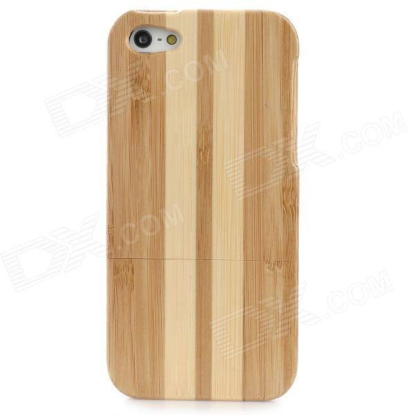Protective Bamboo Case for Iphone 5 - Brown + Yellow